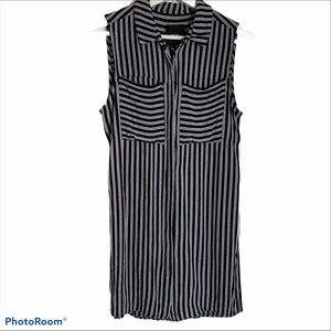 ASOS 0 pocket longline tunic button down side slit